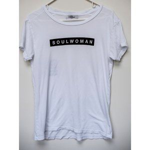 Soul Cycle white short sleeved cotton tee size S